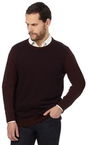 Jeff Banks Big And Tall Dark Red Patterned Jumper