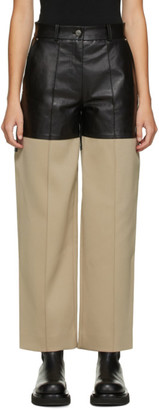Peter Do Black and Beige Fireman Trousers