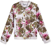 GUESS Avocado-Print Bomber Jacket, Big Girls (7-16)