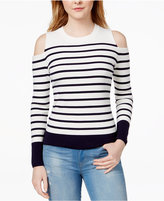 Tommy Hilfiger Striped Cold-Shoulder Sweater, Only at Macy's
