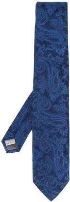 Canali Paisley Print Tie