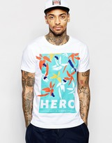 Hero's Heroine Heros Heroine T-Shirt With Block Floral Print