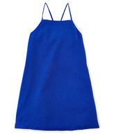 Ralph Lauren Woven Strappy Tank Dress, Deep Royal, Size 5-6X