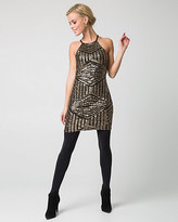 Le Château Sequin Halter Neck Tunic Dress