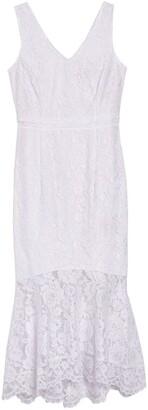 Nanette Lepore V-Neck Sleeveless Lace Dress
