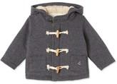 Petit Bateau Baby boys duffle coat in warm cotton fleece