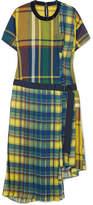 Sacai Asymmetric Cotton-blend Midi Dress - Yellow