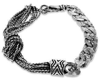 Emanuele Bicocchi Unisex 925 Sterling Silver Knot Bracelet of Length 22cm