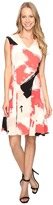 Ellen Tracy Printed Soft-Fold Dress