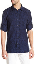 Victorinox Long Sleeve Print Tailored Fit Shirt