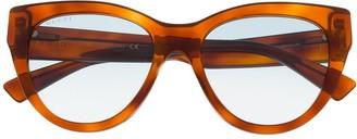 Gucci Tortoiseshell-Effect Glasses
