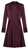 HUGO BOSS - Slim Fit Shirt Dress With Bow Neckline - Red