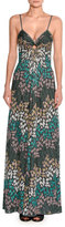 Missoni Lurex® Metallic Sleeveless Keyhole Gown, Green