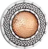 Celtic Design Brooch Copper Dome & Rhodium Plated