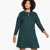 Castaluna Plus Size Flared Houndstooth Check Dress