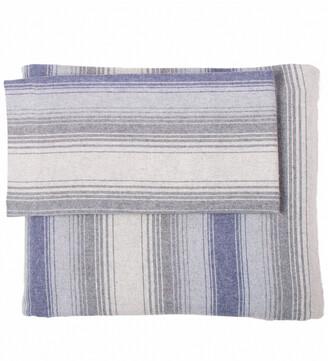 Belle Epoque Stripe Flannel Blue Grey Sheet Set