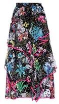 Peter Pilotto Printed silk skirt