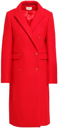 BA&SH Pally Double-breasted Brushed Wool-blend Felt Coat