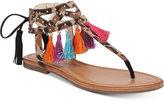 Jessica Simpson Kamel Embellished Flat Thong Sandals