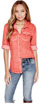 G by Guess GByGUESS Women's Janel Washed Shirt