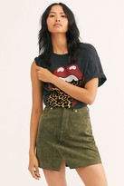 Blank NYC Cutout Suede Mini Skirt by at Free People, Alpine Green, 24