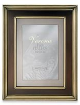 Lawrence Frames 8-Inch x 10-Inch Brushed Brass Picture Frame with Bronze Inner Panel
