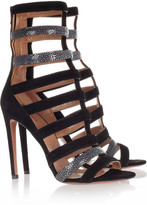 Alaia Suede and stingray sandals