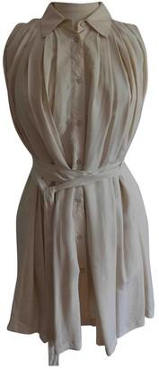 Prada White Silk Dresses