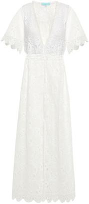 Melissa Odabash Gabrielle Cotton-blend Corded Lace Maxi Dress