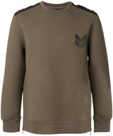 Neil Barrett arrow sweatshirt - men - Cotton/Polyurethane/Spandex/Elastane/Viscose - S