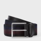 Paul Smith Men's Webbing Stripe Belt