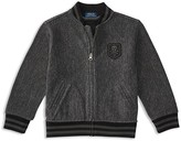 Ralph Lauren Boys' French Terry Herringbone Baseball Jacket - Sizes 2-7