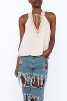 Do & Be Blush Racer Back Top