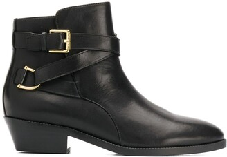 Lauren Ralph Lauren Side Buckle Ankle Boots