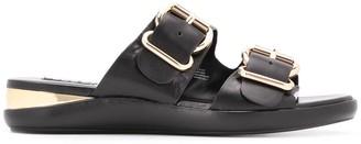 DKNY buckled slip-on sandals