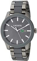 Lacoste Men's 'LACOSTE.12.12' Quartz Stainless Steel Casual Watch, Color:Silver-Toned (Model: 2010923)