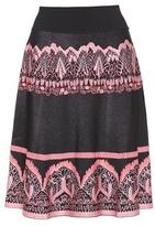 Valentino Knitted jacquard skirt