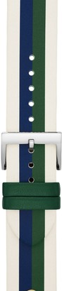 Tory Burch Seasonal Stripes Band for Apple Watch, Multicolor Leather, 38 MM 40 MM