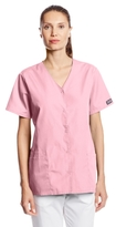 Cherokee Women's Workwear Scrubs Snap Front V-Neck Top