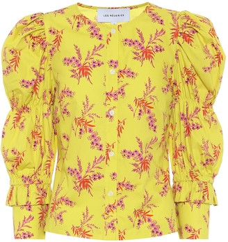 Les Rêveries Exclusive to Mytheresa Floral cotton poplin blouse