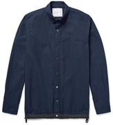 Sacai Slim-Fit Shell-Trimmed Cotton-Blend Poplin Overshirt