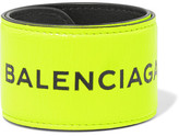 Balenciaga Cycle Textured-leather Bracelet - Yellow