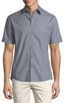 Michael Kors Slim-Fit Check Cotton Short-Sleeve Shirt