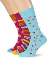 My Way Men's Tiger Socks,6/8 pack of 3