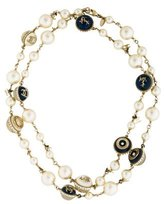 Chanel Faux Pearl & Resin Nautical Beaded Necklace