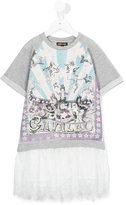 Roberto Cavalli circus print sweatshirt dress - kids - Cotton/Polyamide/Polyester/Viscose - 8 yrs
