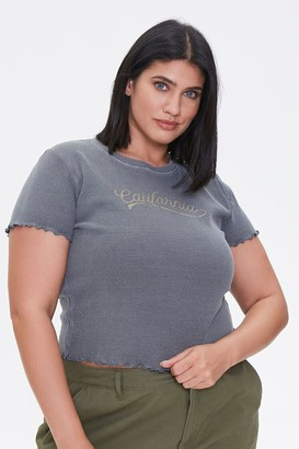 Forever 21 Plus Size California Graphic Tee