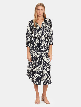 Joie Emmalyn Button Down Midi Shirt Dress