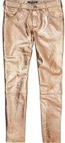 Scotch & Soda Metallic Leather Trousers