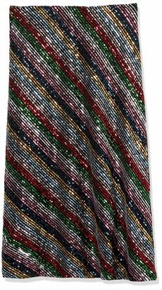 Milly Women's Rainbow Multistripe Sequin Bias Skirt